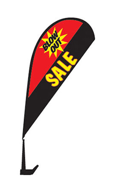 "Clip On Paddle Flag Kit - ""Blow Out Sale"""