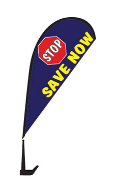 "Clip On Paddle Flag Kit - ""Stop Save Now"""