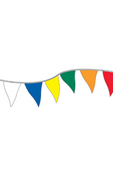Economy 60 foot Multi-Colored Triangle Pennant