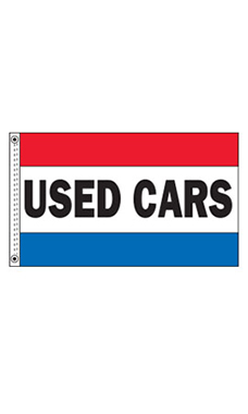 "Horizontal Stripe Message Flag - ""Used Cars"""