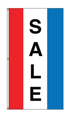"Small Vertical Stripe Message Flag - ""Sale"""