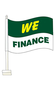 "Window Clip On Flag - ""We Finance"""