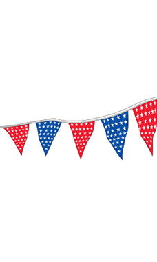 105 foot Stars Patriotic Triangle Pennant