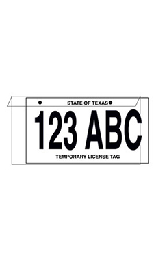 License Plate Protector Jackets