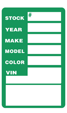 Green Window Stock Stickers