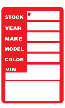 Red Window Stock Stickers