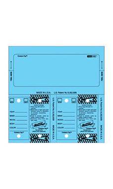 Blue Stock Number Key Tag Set