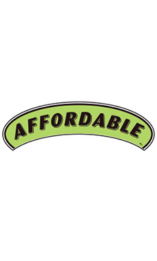 "Arch Windshield Slogan Sticker - Black/Neon Green - ""Affordable"""