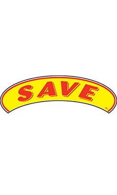 "Arch Windshield Slogan Sticker - Red/Yellow - ""Save"""