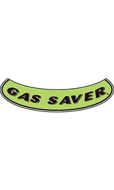 "Smile Windshield Slogan Sticker - Black/Neon Green - ""Gas Saver"""