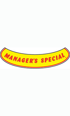 "Smile Windshield Slogan Sticker - Red/Yellow - ""Managers Special"""