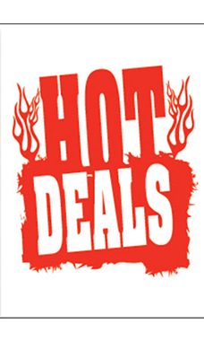 "Jumbo Under The Hood Sign - ""Hot Deals"""