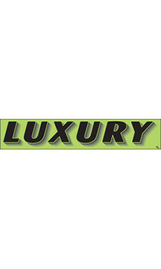 "Rectangular Slogan Windshield Sticker - Green - ""Luxury"""
