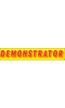 "Rectangular Slogan Windshield Sticker - Red/Yellow - ""Demonstrator"""