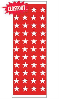 Patriotic Theme Flag - Stars - Red