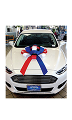 30 inch Red/White/Blue Magnetic Car Bow