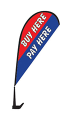 "Clip On Paddle Flag Kit - ""Buy Here Pay Here"""