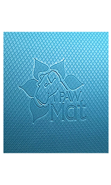 "PawMat Anti-Fatigue Grooming Mat (24"" x 24"") - Ocean Blue/ Black"