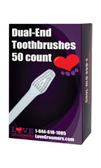 Love Groomers Dual-End Toothbrushes