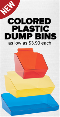 Colored Plastic Dump Bins