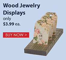 Wood Jewelry Display