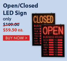 Open Closed LED Signs