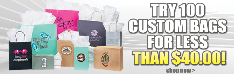 Try 100 Custom Bags for Less than $40.00