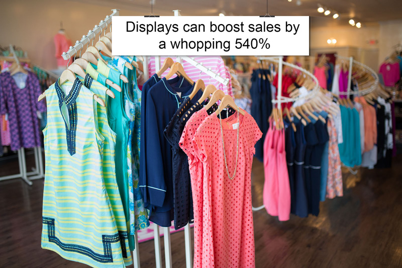 Displays boost sales