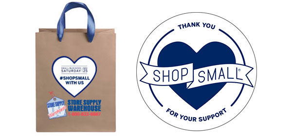Small Business Saturday Bag with Badge