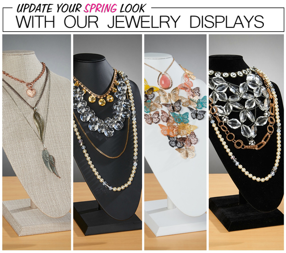 Update Your Spring Look with our Jewelry Displays