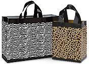 Plastic Animal Print Shopping Bags
