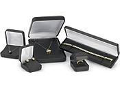 Black Faux Leather Jewelry Boxes