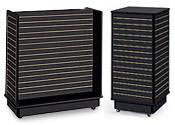 Black Slatwall Display Units