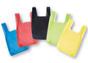 Colored Plastic T-Shirt Shopping Bags