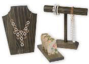 Dark Oak Wood Jewelry Displays