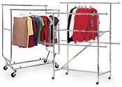 Double-Rail Clothing Racks