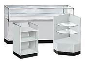 Gray Metal Framed Display Cases