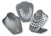 Gray Necklace Displays