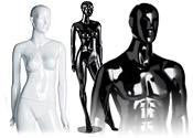 High Gloss Fiberglass Boutique Mannequins