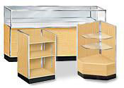Maple Metal Framed Display Cases