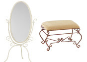 Reduced Price Boutique Mirrors and Ottomans