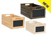 New Wooden Chalkboard Crates