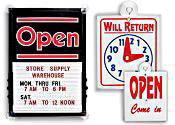 Retail Open Signs