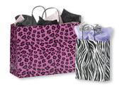 Paper Animal Print Shopping Bags