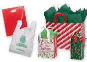 Plastic Holiday Retail Shopping Bags