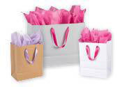 Premium Folded Top Paper Bags with Ribbon Handles