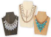Wood Necklace Displays