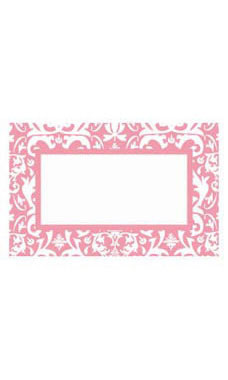Medium Boutique Pink Damask Sign Cards
