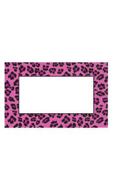 Medium Boutique Pink Leopard Sign Cards