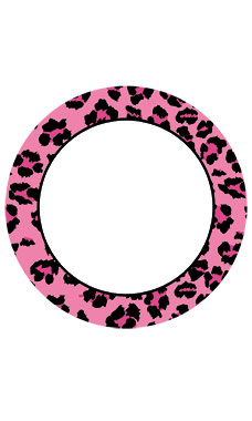 Boutique Circle Pink Leopard Sign Cards
